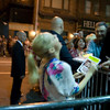 Chenoweth having fun signing EVERYBODY's posters and playbills. Even those lined up across the street!