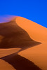 Namibia, Africa: Blowing Blue Sand Dune at Sossusvlei