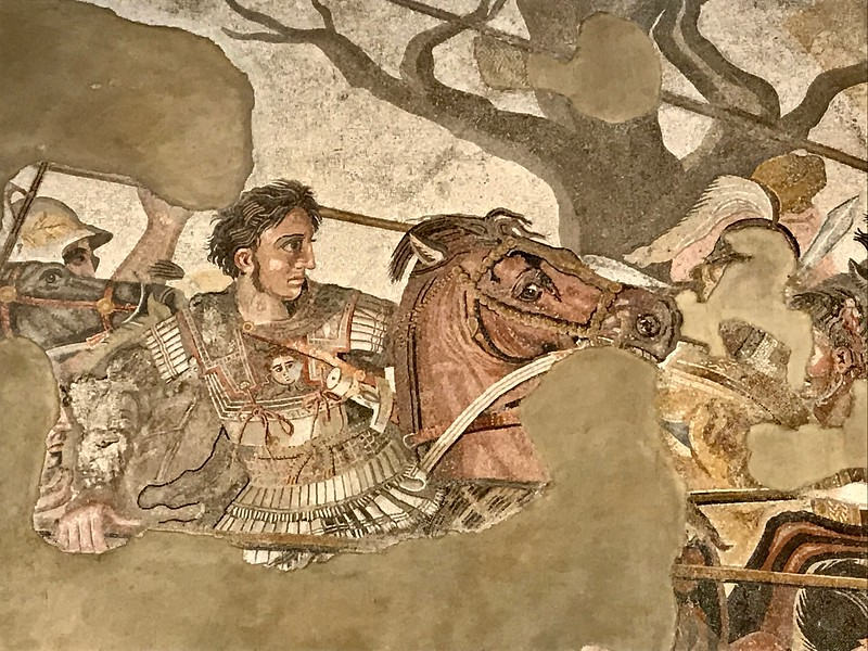 the original of the Alexander the Great and Darius II mosaic was in Pompeii