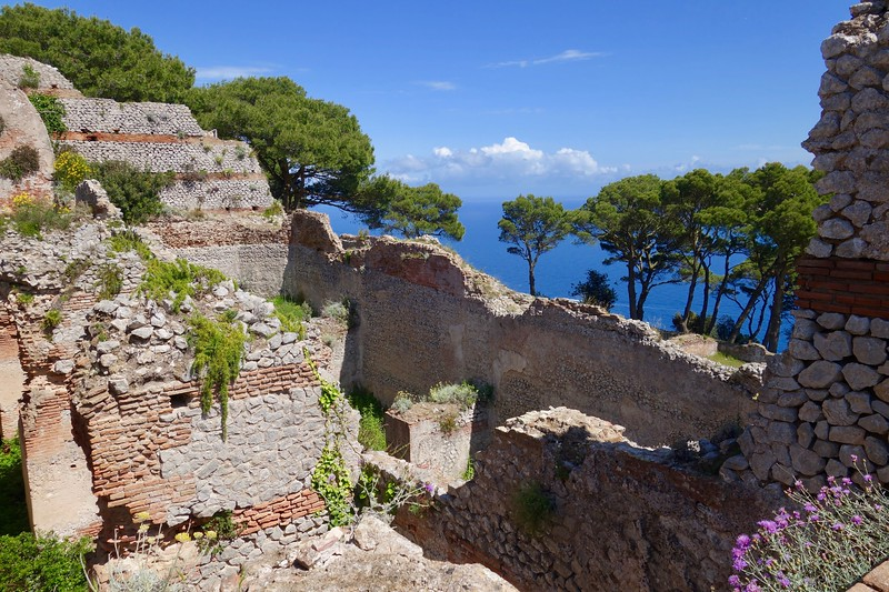 ruins of emperor Tiberius' palace - Villa Jovis, on Capri