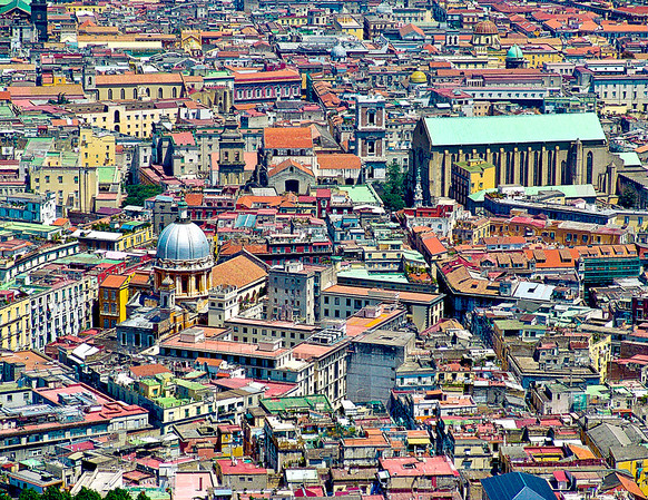 Higher view of Naples, Naples, Italy