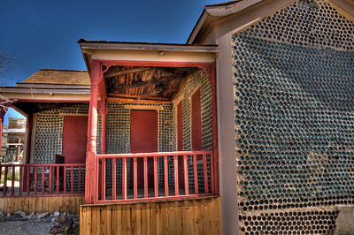 Bottle House Rhyolite, Nevada ghost town. Made with 30,000 bottles mainly Adulphous Busch beer.