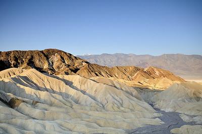 Zabriske Point Death Valley at dawn