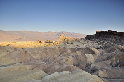 Zabriske Point Death Valley at dawn