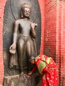 at Swayambhunath