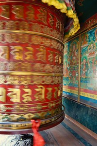 prayer wheel in motion
