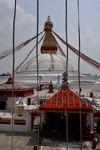 Boudhanath Stupa from monastary