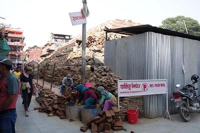 restoring temples from the 2014 earthquake, Durbar Square, Kathmandu