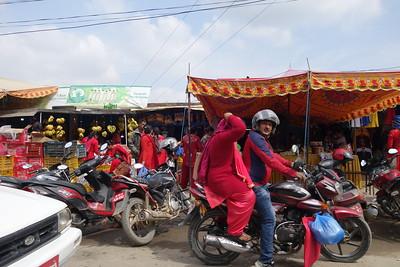 roadside shopping areas