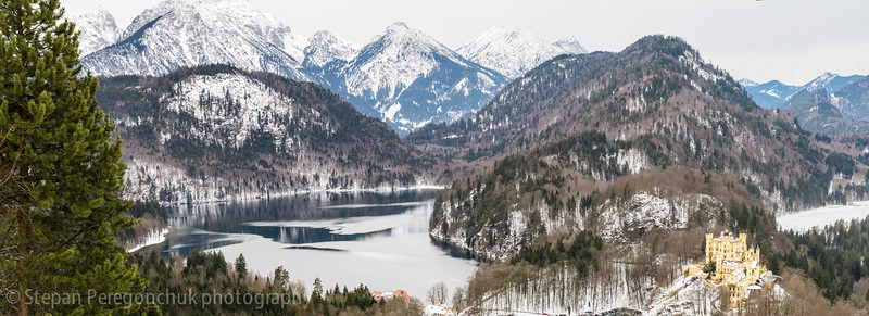 Alpsee and alps