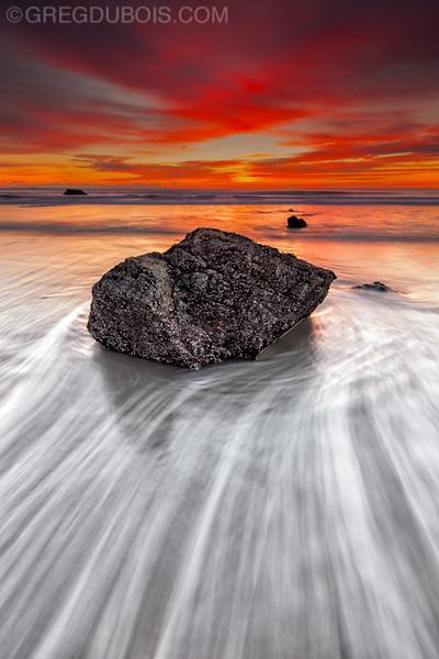 Hampton Beach New Hampshire Sunrise with Boar's Head Rocks and Surf