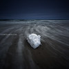 Lone Beach Ice Seascape on Stormy Winter Day - Hampton Beach State Park, New Hampshire USA