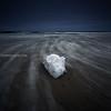 Lone Beach Ice Seascape on Stormy Winter Day - Hampton Beach State Park, New Hampshire USA