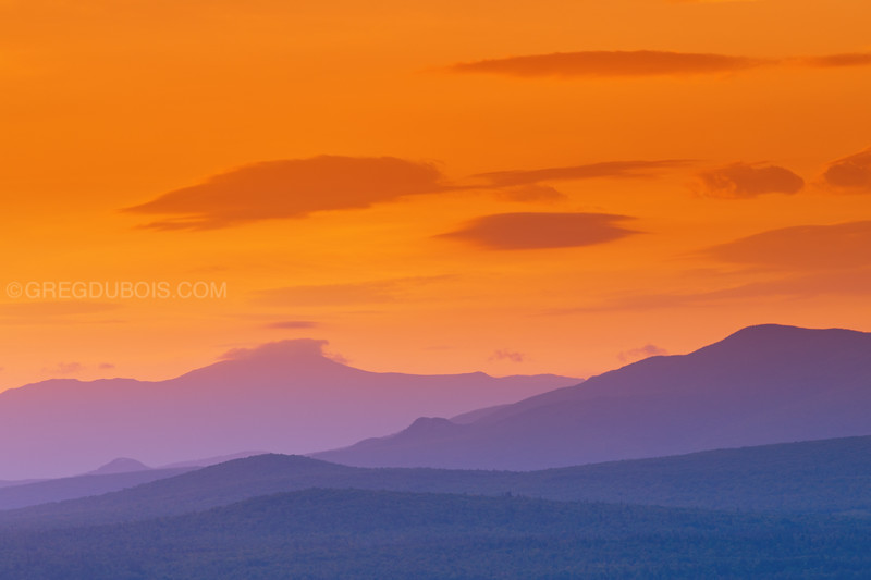 White Mountains from Sugar Hill New Hampshire at Sunrise