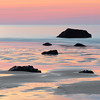 Hampton Beach New Hampshire at Sunrise with Low Tide Sea Rocks