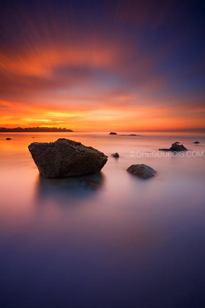 Hampton Beach New Hampshire Sunrise over Sea Rocks and Boar's Head