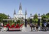 Cathedral of the St louis; Jackson Square; Louisiana; New Orleans; USA