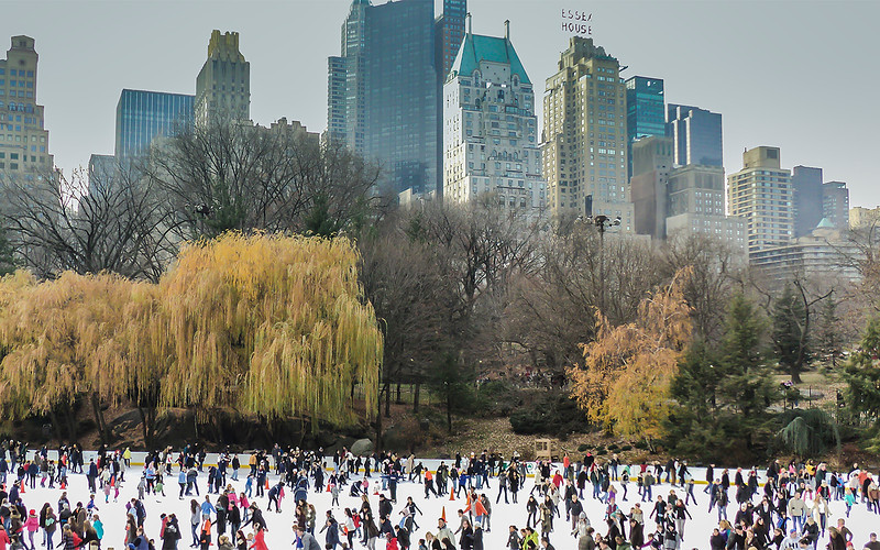 Wollman Skating rink in Central Park