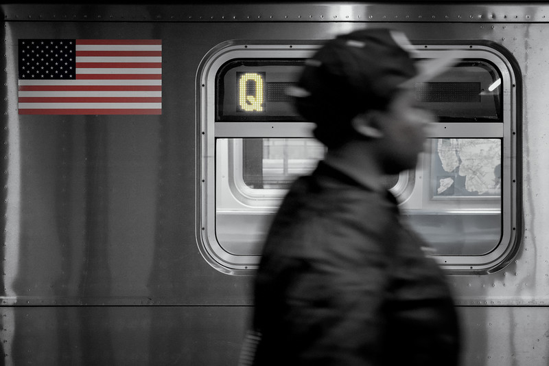 On the Q line - New York