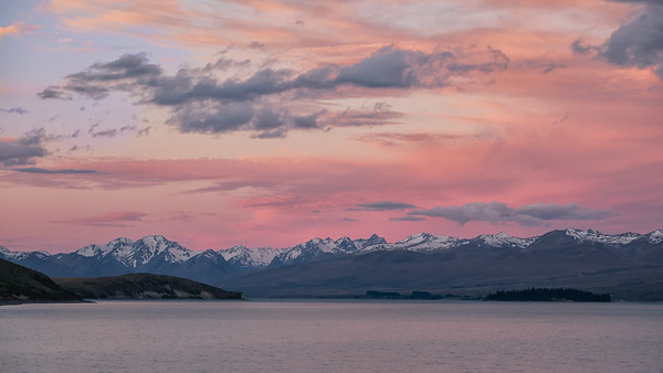 Lake Tekapo after sunset