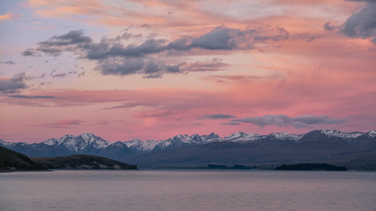Lake Tekapo after sunset