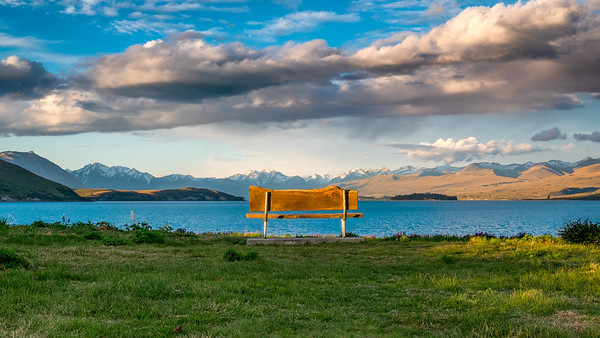 Bench at Lake Tekapo