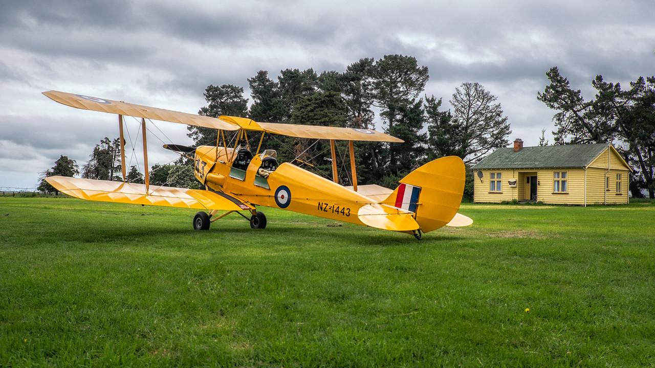Tiger Moth at Rangitata Island Aerodrome