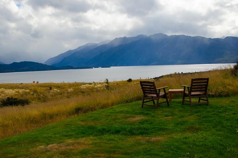 Fiordland Lodge View of Lake Te Anau, New Zealand