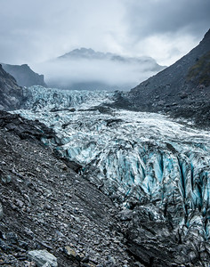 Terminal face of Tasman Glacier, New Zealand