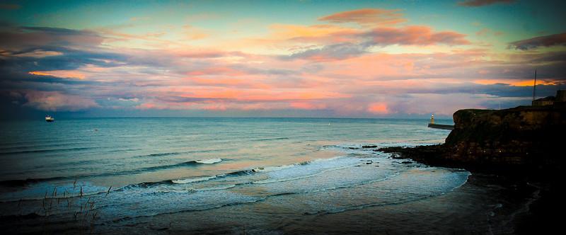 Sunset, New Castle England