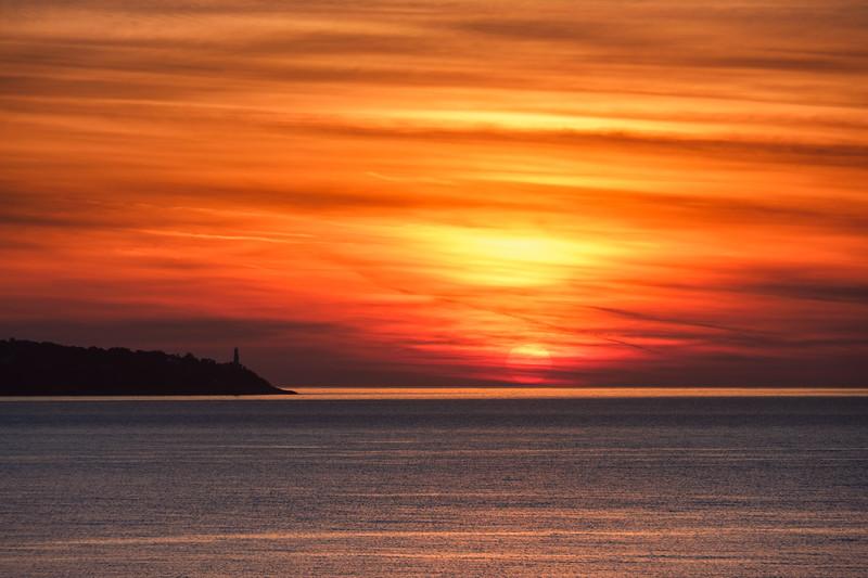 Sunrise over Cap Ferrat, Nice,  France