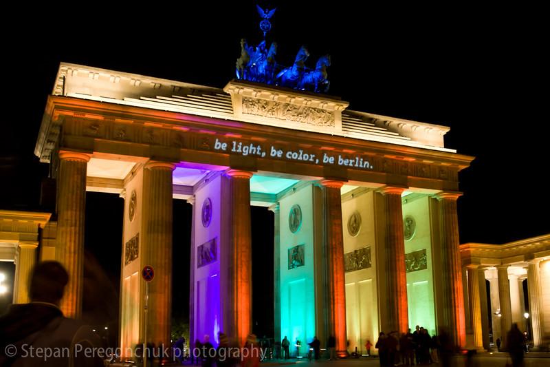 Brandenburg gate lighting