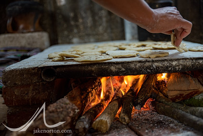Fresh tortillas being cooked on Lake Atitlan, Guatemala.