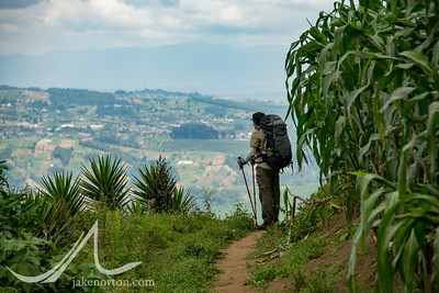 Trekking through the rural countryside of Guatemala from Antigua to Lake Atitlan.