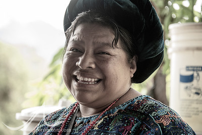 Portrait of a Mayan woman near Lake Atitlan, Guatemala.