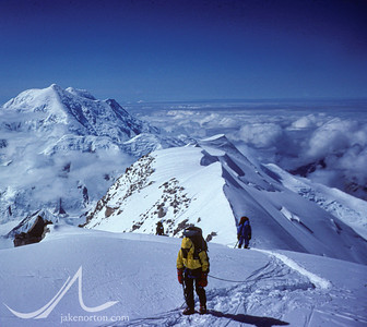Climbing on the West Buttress of Denali (Mt. McKinley), Alaska.
