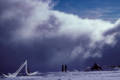 Clouds rising at 14,000 foot camp on Denali (Mt. McKinley), Alaska.