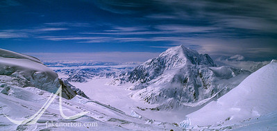 View to Mt. Foraker from near Windy Corner on Denali (Mt. McKinley), Alaska.
