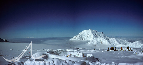 Mt. Foraker and the Sultana Ridge from 14,000 foot camp on Denali (Mt. McKinley), Alaska.