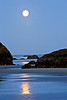 Moonset - Bandon Beach