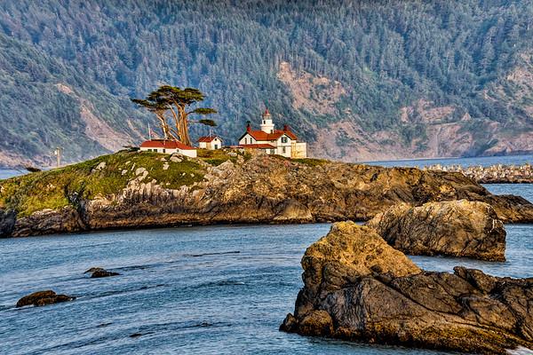 USA; California; Cresent City; Battery Light House