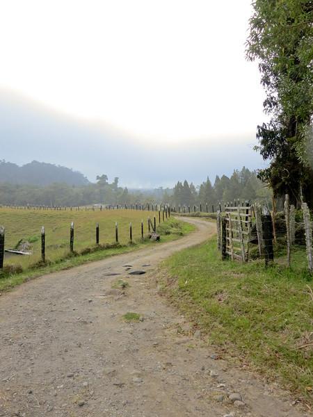 Farmland in the mist, Volcan Baru Hike