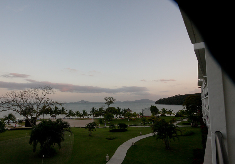 Looking out at Playa Bonita from the hotel room