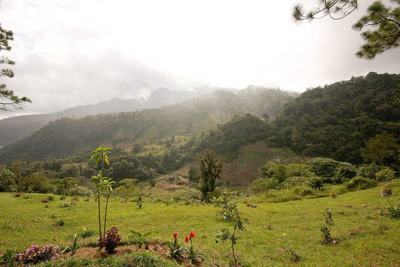 Looking down into the Boquete area, from the Cloud Forest hike