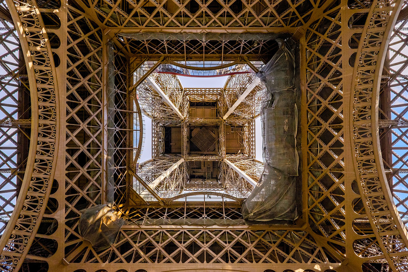 Different view on the Eiffel Tower, Paris