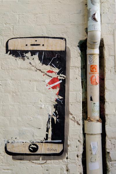 Faded graffiti