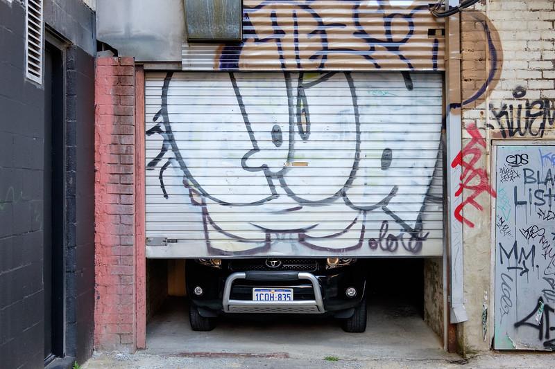Graffiti garage door