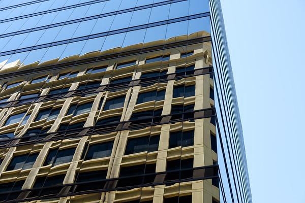 Skyscraper reflection (H)