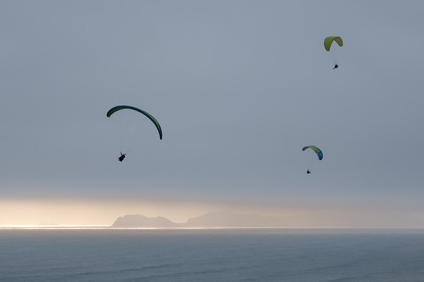 Paragliders at Miraflores, Peru