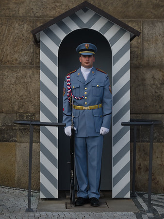 Guard at Prague castle